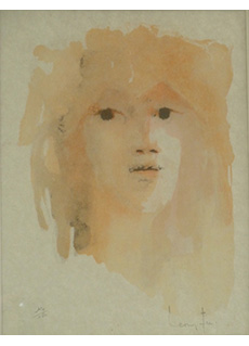 Young Girls Face by Leonor Fini