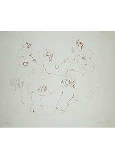 Six Female Nudes Seated by Leonor Fini