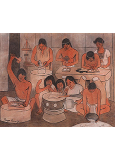 The Huaxtec Civilization Mural Study by Diego Rivera