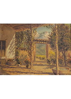 Patio Scene by Alberto Alfredo Lobos