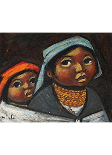 Two Octavalo Children by Arturo Nieto